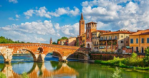 Verona, vista sull'Adige