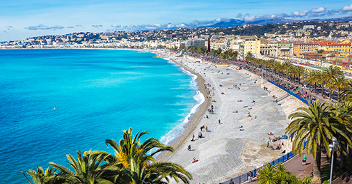 Nizza, zwischen der Französisch Riviera und der Provence